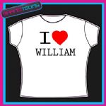 I LOVE HEART WILLIAM TSHIRT